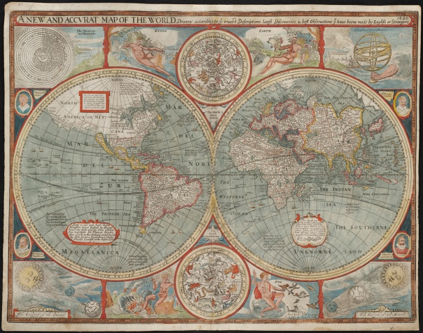 """A new and accurat map of the world"" by the Norman B. Leventhal Map Center at the Boston Public Library is licensed under CC BY 2.0."